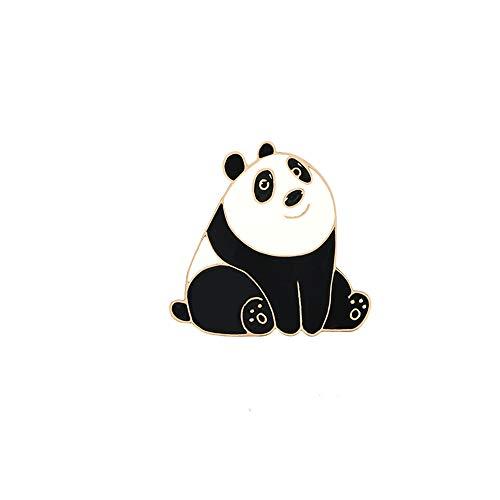 Cartoon Tier Emaille Pins Nette Happy Panda Broschen Kreative Lustige Schöne Metallschmuck Geschenk Für Kinder Shirt Bag Revers Abzeichen