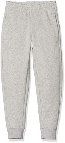 adidas Mädchen Essentials Linear Trainingshose, Medium Grey Heather/Real Pink, 116 (XS)