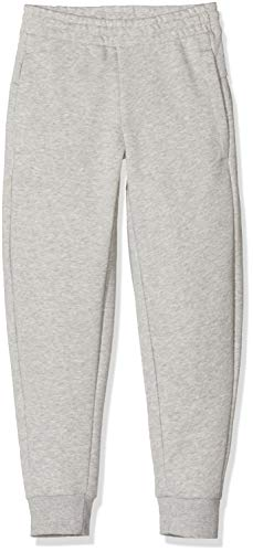 adidas Mädchen Essentials Linear Trainingshose,  Medium Grey Heather/Real Pink, 164 (XL)