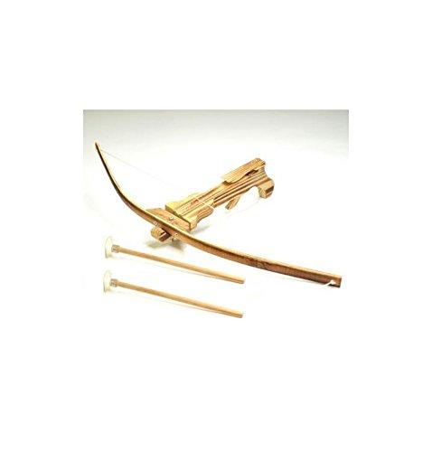 les colis noirs lcn Arbalette en Bambou 29 cm 2 Fleche Ventouse - Jouet Robin Bois Enfant - 147