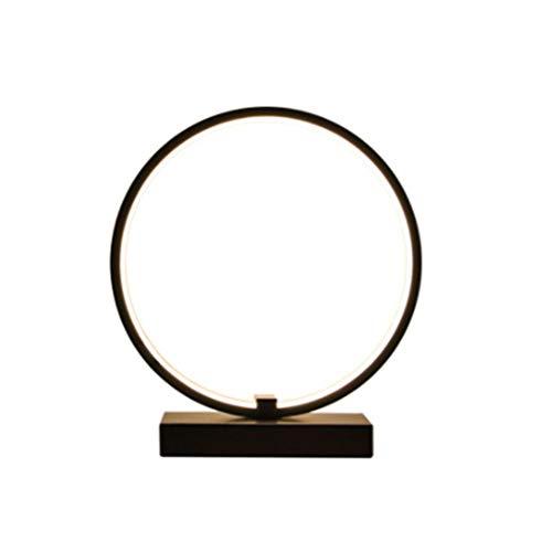 No band bedlampje, creatieve zwarte ronde oogbescherming lamp, ijzer-kunstverlichting studie tafellamp, 25 cm * 25 cm 501