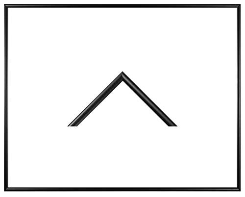 RahmenMax Iowa Kunststoff-Bilderrahmen 58x84 cm Posterrahmen 84x58 cm Farbwahl jetzt: Schwarz Matt mit 1 mm Acrylglas klar