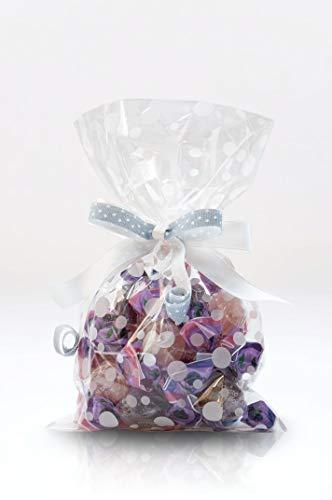 Italpak Sachets transparents pour bulles alimentaires 50 pcs, Polypropylène, blanc et rose, 9x12,5cm