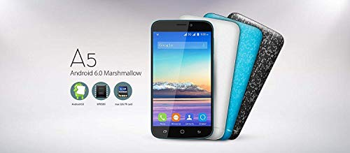 Blackview A5 3G Dual SIM Smartphone - 4.5 inch Screen MTK6580 Quad Core 1.3GHz 1GB RAM 8GB ROM dual Camera Mosaic Back Cover - Blau