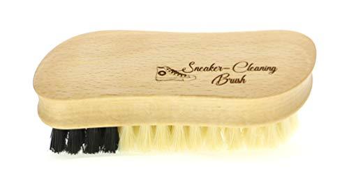 Sneaker Brush - Sneaker Cleaning Brush met verschillende harde natuurlijke haren voor het reinigen van verschillende textiel- en synthetische schoenmaterialen, M: ca. 12 x 5 cm, Made in Germany