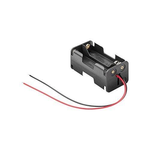 Portapilas para 4 Pilas LR6 AA, Cablepelado