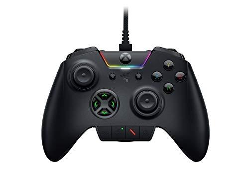 Razer Wolverine Ultimate - Kabelgebundener Gaming Controller für Xbox Series X / S + Xbox One + PC mit Chroma RGB (Austauschbare Sticks und Steuerkreuz) Schwarz (Generalüberholt)