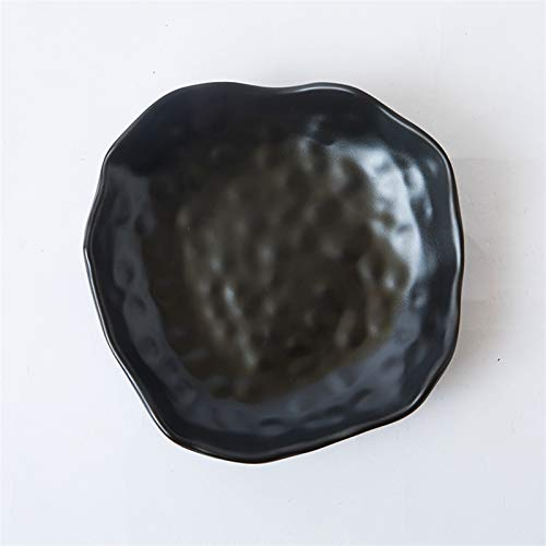 Dispositivo poligonal de 8 pulgadas Hot Pot de la dispersión de la dispersión de la barbacoa negra del plato de la barbacoa fría del refrigerio de la imitación de la porcelana en forma de vajilla TOM-