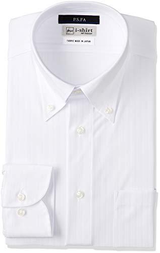 [アイシャツ] i-shirt 完全ノーアイロン ストレッチ 超速乾 スリムフィット 長袖 アイシャツ ワイシャツ メンズ ノンアイロン 022 ホワイト ボタンダウン 布帛ライク M15118013501 LL86(首回り43cm×裄丈86cm)