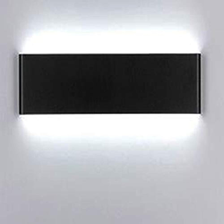 Spiegellampen,LED-Spiegelscheinwerfer schlankes minimalistisches europisches Badezimmer Anti-Fog-Gang Hotel Schlafzimmer Nachttischlampe Badezimmerwandlampe,30cm10W,weies Licht schwarz