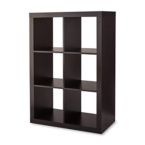 Better Homes & Gardens 6-Cube Storage Organizer (Espresso)
