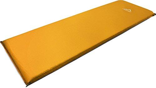 normani Selbstaufblasende Thermomatte mit Schaumstofffüllung - extra dick Farbe Orange Größe 200 x 70 x 15 cm
