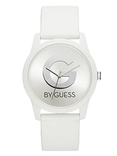 G by GUESS - Reloj analógico de cuarzo con correa de silicona, color blanco, 5 (modelo: G49003L1)