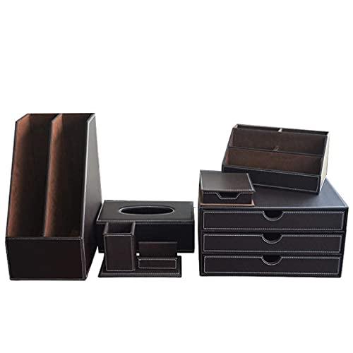 Escritorio GE Box Business Cuero Material de Oficina Regalos de Empresa Soporte para bolígrafo Conjunto de Oficina