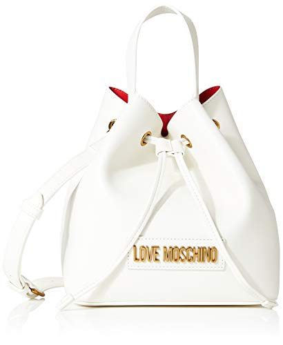 Love Moschino Jc4263pp0a, Borsa a Secchiello Donna, Bianco (White),...