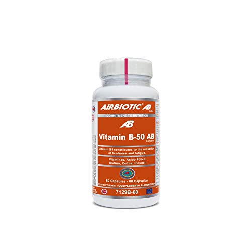 AB - Vitaminas B-50 Complex para la Salud y Contra la Fatiga, 60 Cápsulas