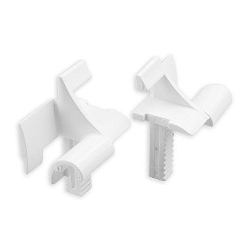 DIWARO® Einlauftrichter für Mini-Führungsschiene | für Blendenkappen an Vorbaurolladen | 12 mm | weiß