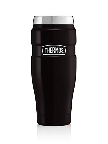 Thermos Stainless King Travel Tumbler, Matt Black, 470 ml