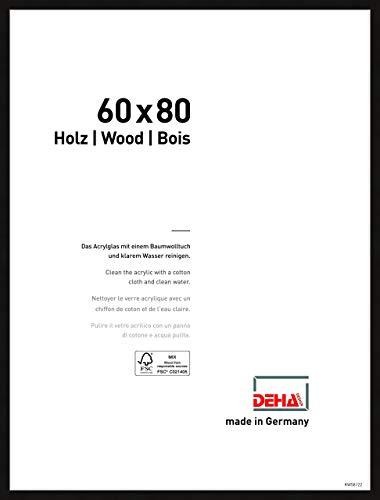 DEHA Holz Bilderrahmen Fontana, 60x80 cm, Schwarz