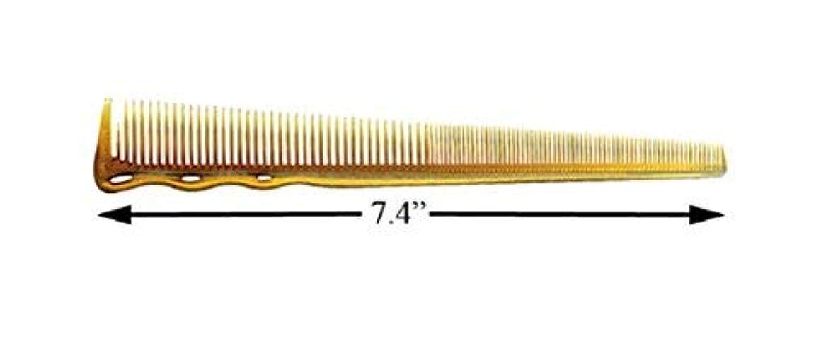 目覚めるタオル南方のYS Park #234ex Extra Fine Short Hair Design Comb In Camel from ProHairTools [並行輸入品]