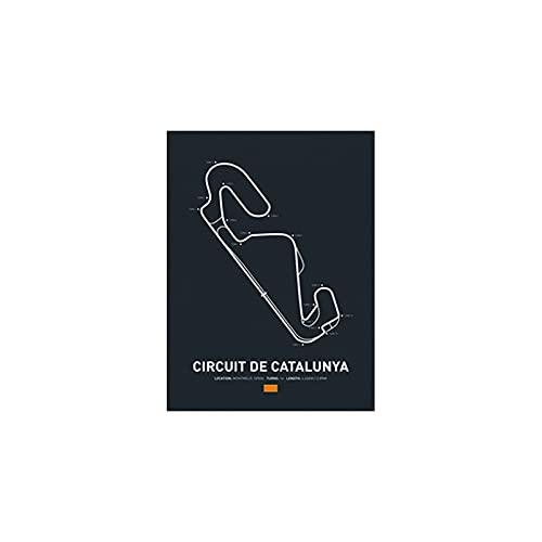 qingqingzijin Edición de Pista Ford RS Hot Formula 1 Race Car Circuit Art Canvas Painting Imagen para Sala de Estar Home DecorA332 50 × 70CM Sin Marco