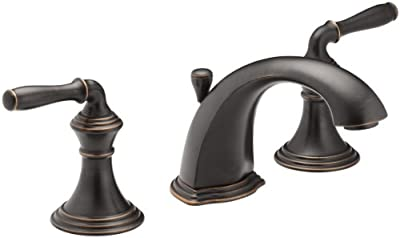 KOHLER Devonshire K-394-4-2BZ 2-Handle Widespread Bathroom Faucet with Metal Drain Assembly in Oil-Rubbed Bronze