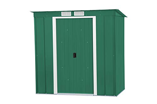 Duramax ECOPENTROOF 6X4 VR Caseta metálica Pent Roof un Agua (124 x 203 x 176 cm), Color Verde