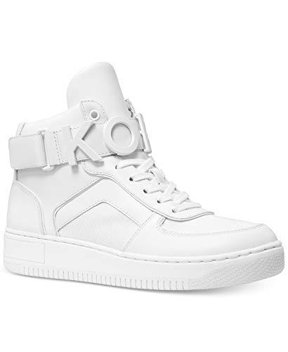 Michael Kors MK Cortlandt - Zapatillas de piel para mujer, color blanco, Blanco (blanco (Optical White)), 35.5 EU