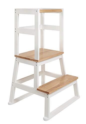 BOMI® Vario Lernturm Kinder Schemel Swubi aus Holz I Lerntower für Kinder ab dem Stehalter | Tower Küche Kindermöbel Learning Tower I Mehr Sicherheit bei Kindererziehung