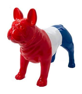 Dekofigur Französische Bulldogge, Kunstharz, 90 cm