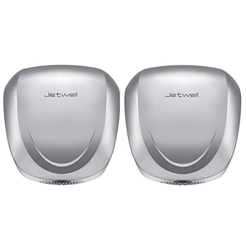 JETWELL 2Pack UL Listed High Speed Commercial Automatic Eco Hand Dryer with HEPA Filter-Heavy Duty Stainless Steel-Warm Wind Hand Blower