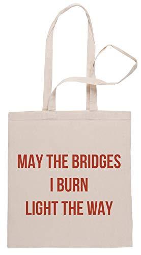 Rundi May The Bridges I Burn Light The Way Bolsa De Compras Shopping Bag Beige