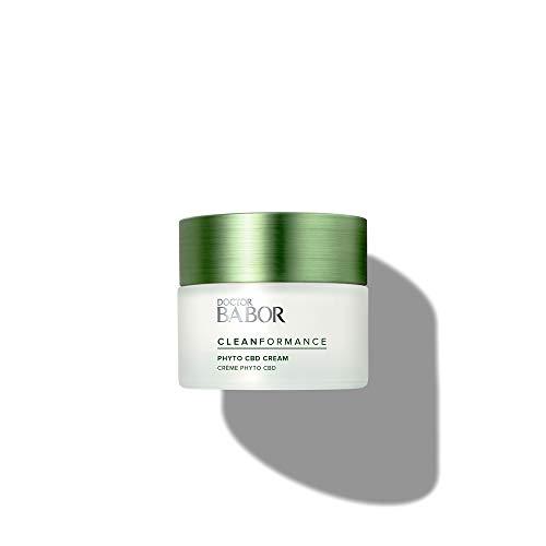 DOCTOR BABOR CLEANFORMANCE Phyto CBD 24h Cream, mit Cannabidiol, für gestresste und strapazierte Haut, 1 x 50 ml