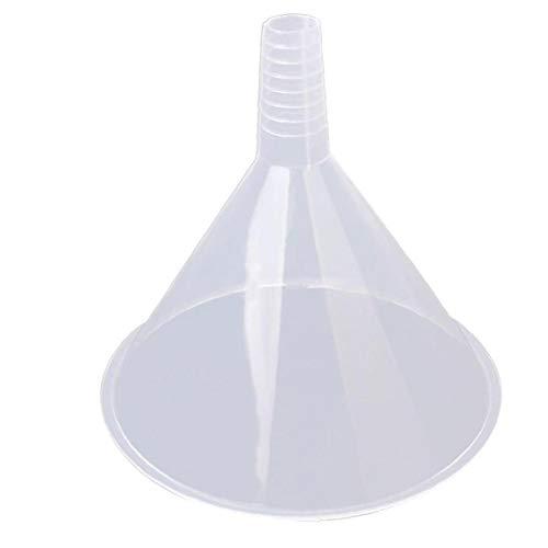 150 Mm De Plástico Embudo Transparente Con Tolva Grande Duradero Triángulo Colador Reutilizable Para La Cocina/Laboratorio/Garaje/Líquidos De Coches