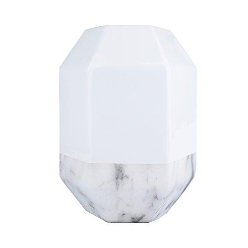 Vaso de Cerâmica Marble at the Bottom Urban Branco/Cinza