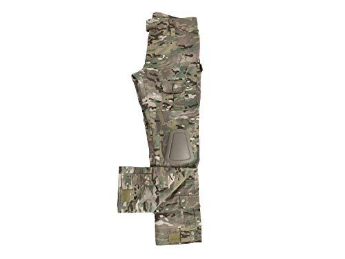 BEGADI Basics Combat Pants/Hose, mit 10 Taschen & abnehmbaren Knieschonern - multiterrain XL