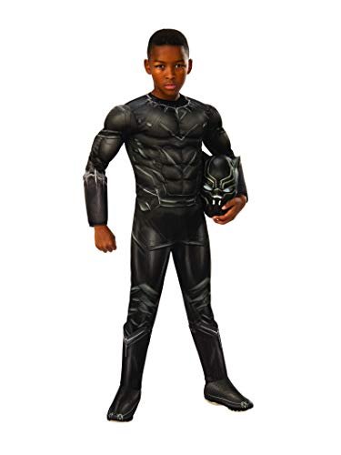 Rubie 's Offizielles Bürgerkrieg Marvel Black Panther Deluxe, Kinder Kostüm–Medium