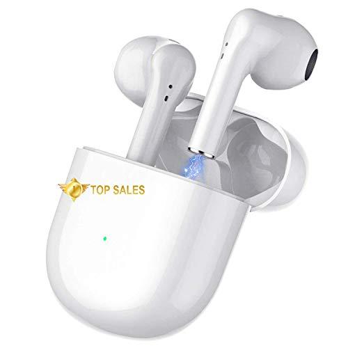 Cuffie Bluetooth, Auricolare Wireless Auricolare In-Ear Sportivo Bluetooth 5.0,Auricolare Stereo Bluetooth Impermeabile IPX5 con Microfono e Scatola di Ricarica,Per Apple Airpods Android iPhone