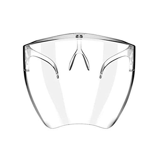 Pantalla facial de seguridad, protección de seguridad para toda la cara, plástico transparente para la cara resistente para prevenir la saliva Gafas protectoras de una pieza, vapores de aceite, para