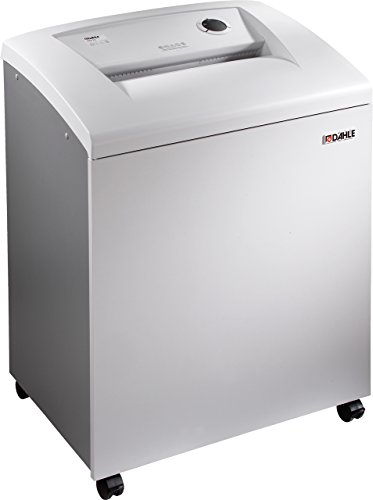 Dahle 40614 Paper Shredder w/SmartPower, Jam Protection, Solid Milled Cylinders, Shreds CDs, Security Level P-4, 25 Sheet Max, 5+ Users