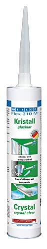 Weicon 13308310 Flex 310 M Crystal MS-Polymer transparent 1-Komponenten starker Klebstoff, durchsichtig