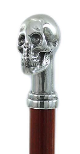 Cavagnini, Bastón elegante y ergonómico, cráneo. Bastones personalizables con grabado