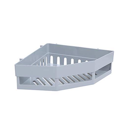 LYN-MEMORY Zwevende rek, hoekrek, douchemand, douchebak zonder boren voor badkamer, gepatenteerde lijm, badkamerrek, 2 stuks, drijvend badkamerrek, wooncultuur wandrek