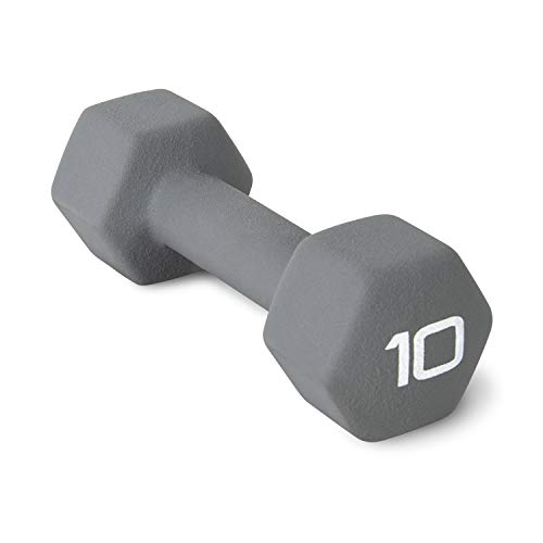 CAP Barbell Neoprene Coated Dumbbell Weights, Single, 10 lb