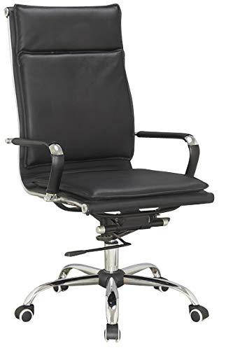 IVOL bureaustoel Modena - zwart - draaibaar, in hoogte verstelbaar en hoge leuning