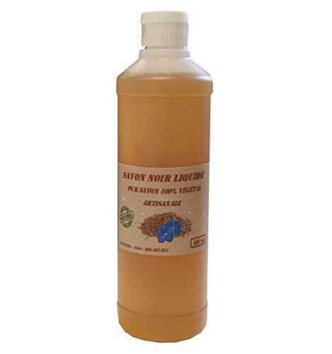 Savon noir Artisanal Naturel 3 parfums aux choix (Citron, 500ml)