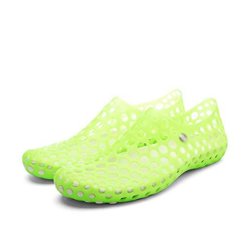 ZLDGYG Mujeres Sandalias de Verano Zapatos de Agujero Zapatos de Goma Mujer Eva Unisex Jardín Zapatos Playa Plano Sandalias Sandalias Zapatillas (Size : 37)