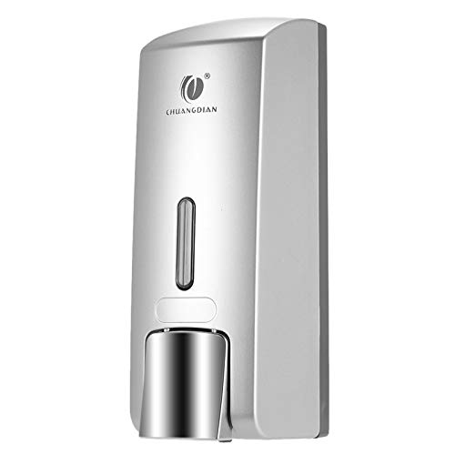 Blusea 300ml Seifenspender Wandseife Seifenspender Flüssigseife für Küche und Badezimmer Silberfarben