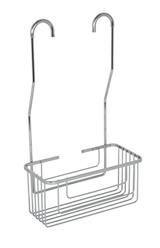 Croydex vergoldet Baustahl Haken über Dusche Mixer Korb, Chrom