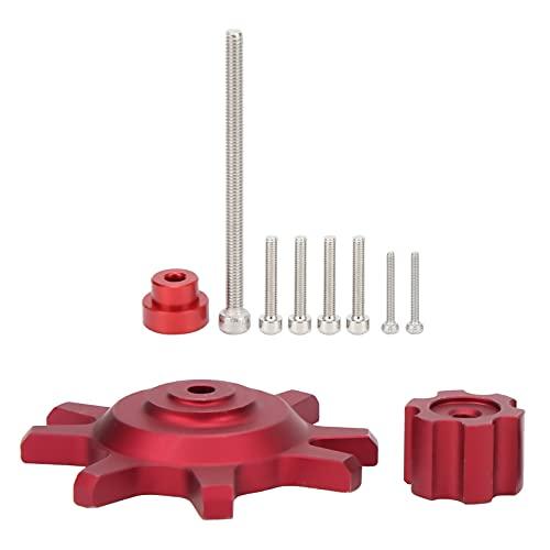 Herramienta de Bloqueo de Llantas de Cubo de Ruedas de aleación de Aluminio 1/10 para Rueda de 1,9/2,2 Pulgadas(Rojo)
